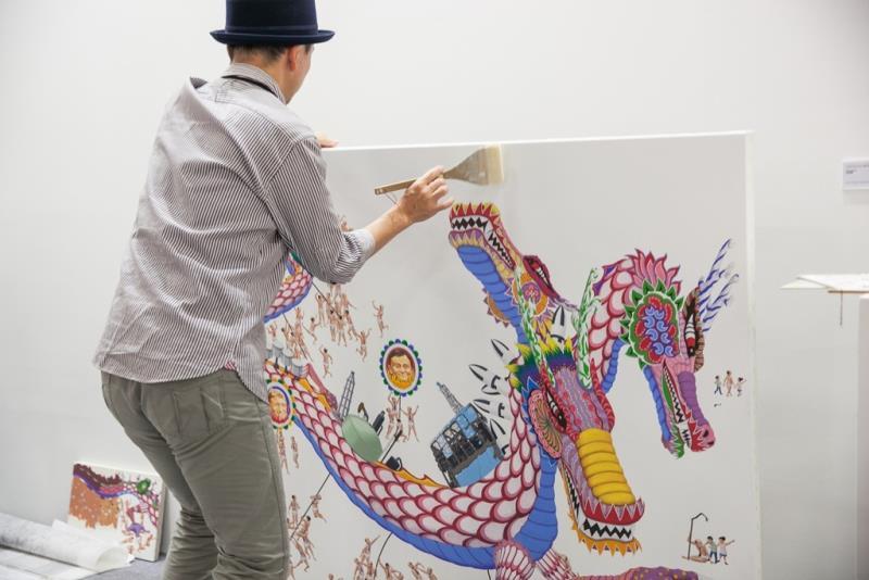 ART TAIPEI 2015 藝術家現場創作 (西澤千晴現場創作《歡騰製造》 Tokyo Gall