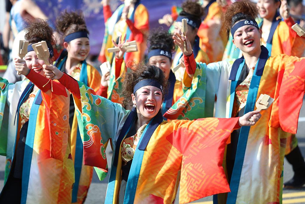 踩街嘉年華日本YOSAKOI踩街隊伍北海道北昴熱情演出  年度:2019  來源:臺中市政府