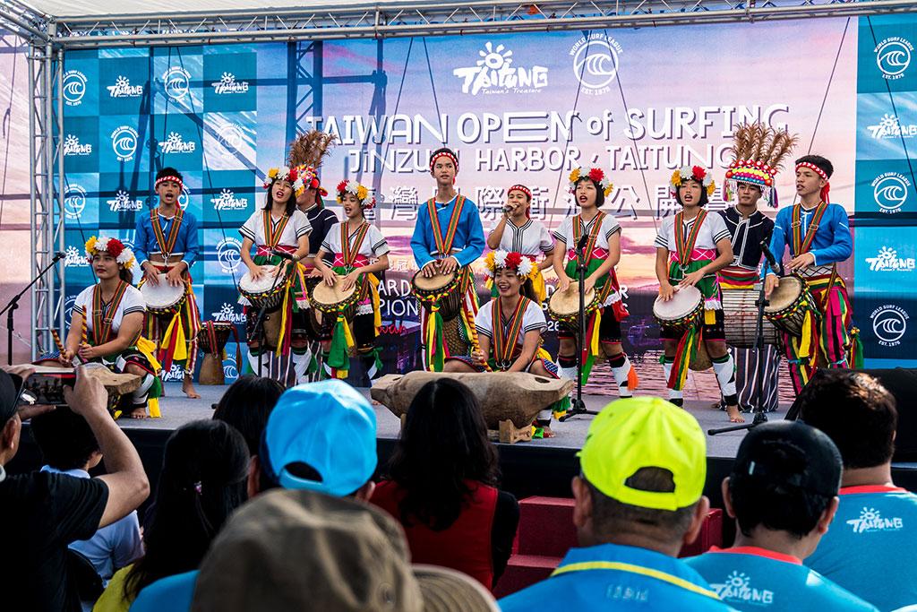 開幕式原住民舞蹈表演-臺東比西里岸的PawPaw鼓隊孩子  年度:2019  來源:臺東縣政府