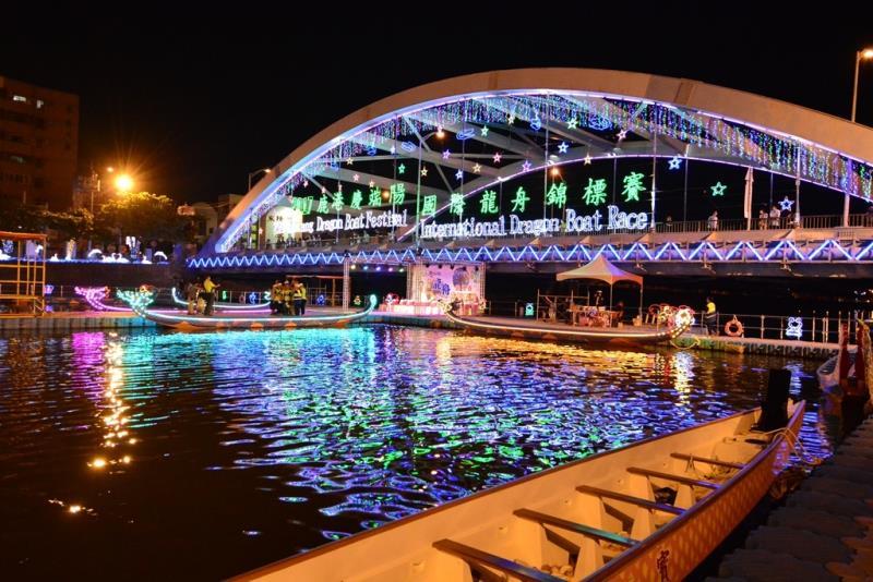 國際龍舟錦標賽夜間燈光點燈儀式-夜間龍舟賽  年度:2017  來源:彰化縣政府