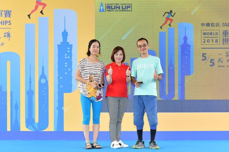 台灣男女冠軍合影  年度:2018  來源:台北101