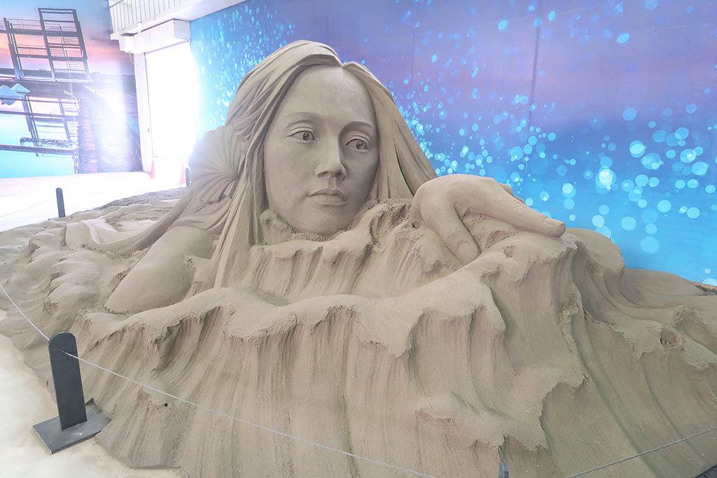 沙雕作品「海之女神」  年度:2018  來源:雲嘉南濱海國家風景區管理處