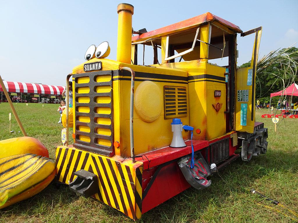懷念復古的火車頭,精巧細膩的設計,可見選手的用心。  年度:2019  來源:西拉雅國家風景區管理處