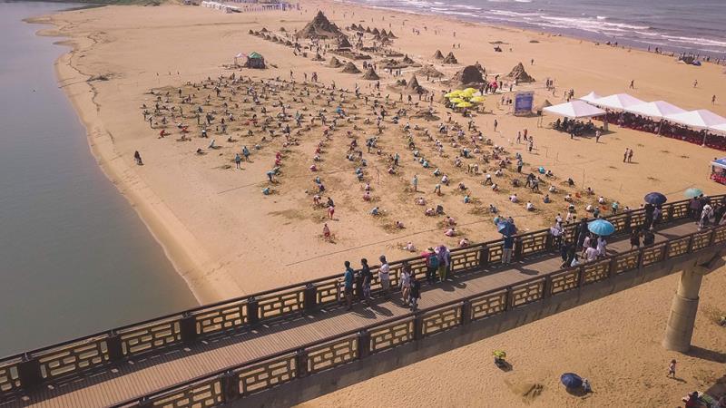 挑戰金氏世界紀錄榮耀 多人同時創作沙雕  年度:2019  來源:東北角暨宜蘭海岸國家風景區管理處
