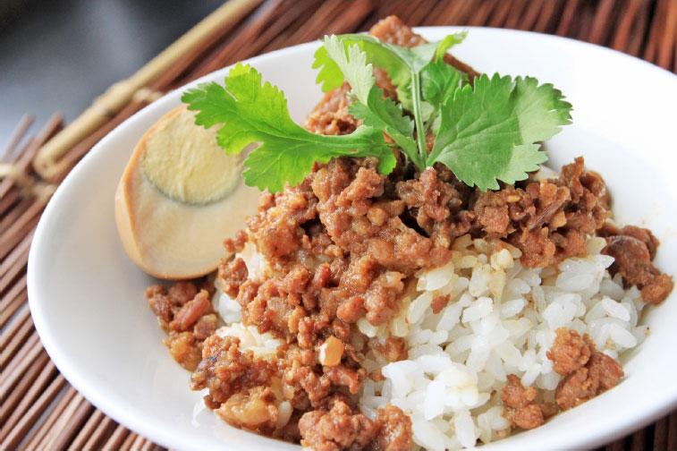 「十全十美」10大特色國飯-七里坡紅藜養生料理-紅藜滷肉飯  年度:2019  來源:經濟部