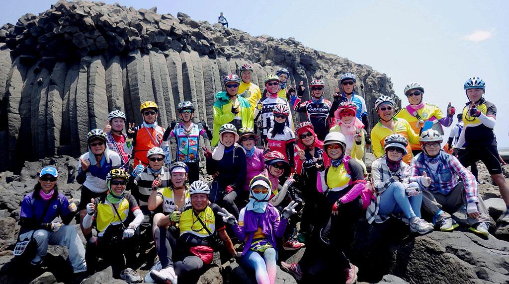 澎湖自行車騎領服務活動-池西柱狀玄武  來源:澎湖國家風景區管理處