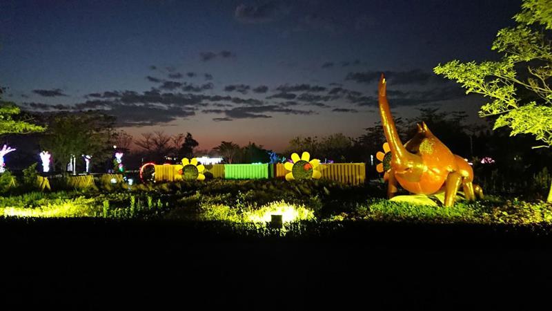 夜間佈燈  來源:彰化縣政府