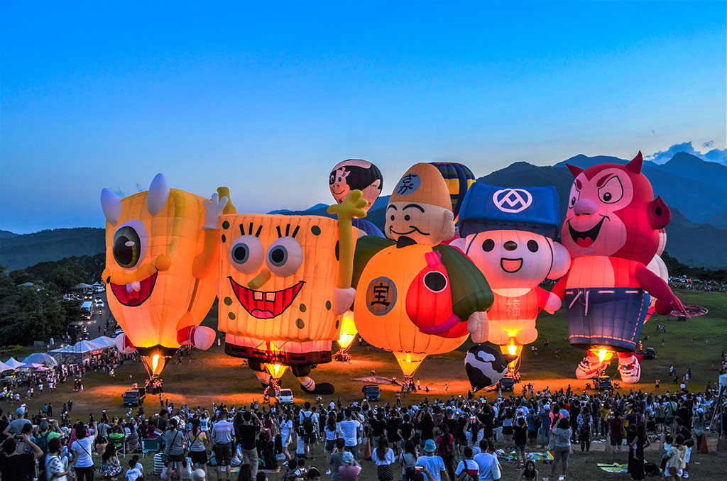 鹿野高臺熱氣球小光雕  年度:2019  來源:臺東縣政府