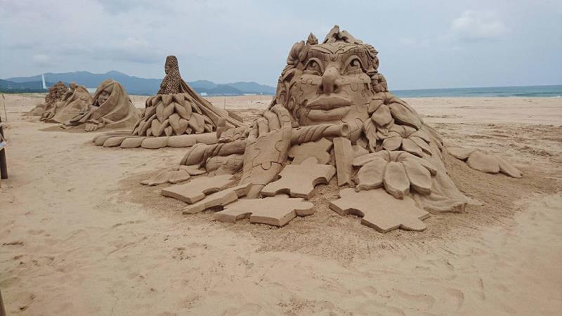 國際賽第一名作品-比利時沙雕師Irina-Sokolova「靈感」  年度:2018  來源:東北角暨宜蘭海岸國家風景區管理處
