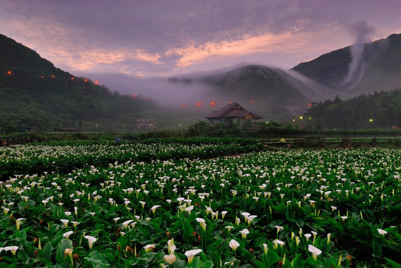 竹子湖頂湖黃昏山嵐  年度:2018  來源:臺北市政府產業發展局