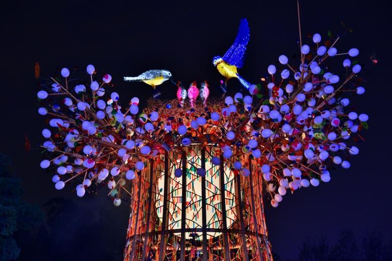 《森生守護・光之樹》主燈點亮台灣燈會