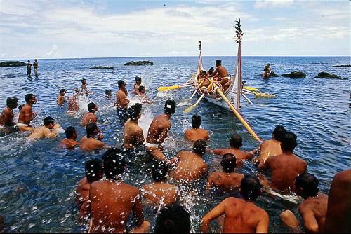 Nueva ceremonia de la Botadura de la Nave en la tribu Tao