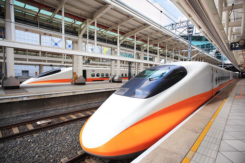 Coches de clase de negocios del tren de alta velocidad de Taiwán.
