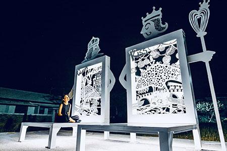 北門遊客中心-鐵雕裝置藝術新亮點
