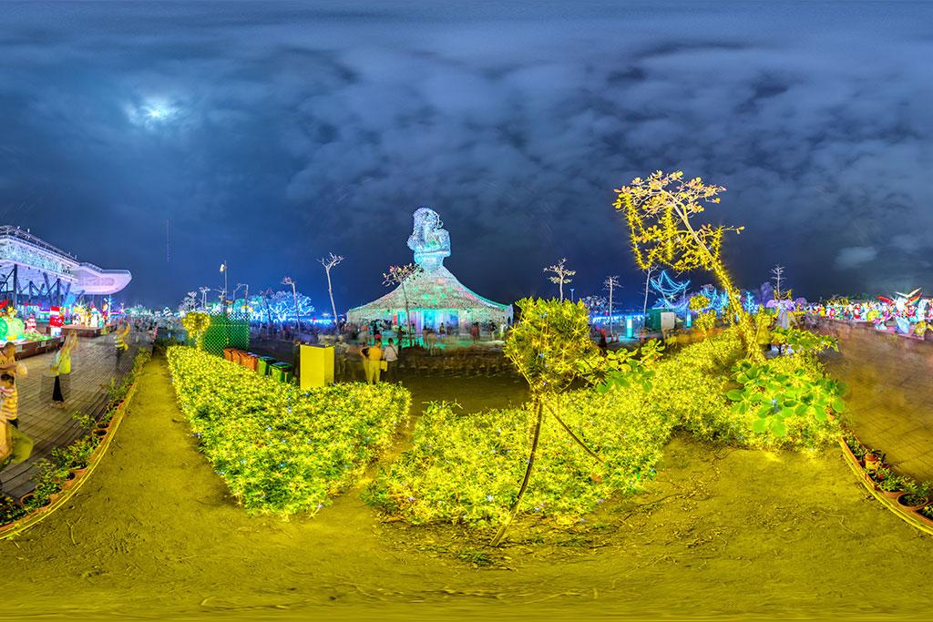 2019台灣燈會超吸睛 30萬個蚵殼化身「海之女神」佇立大鵬灣畔