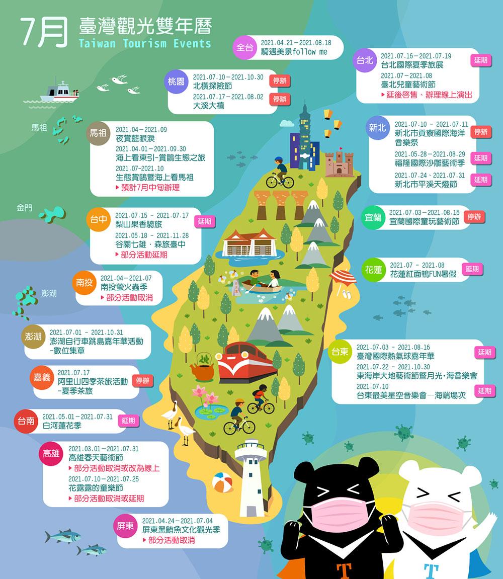 7月精彩活動盡在臺灣觀光雙年曆